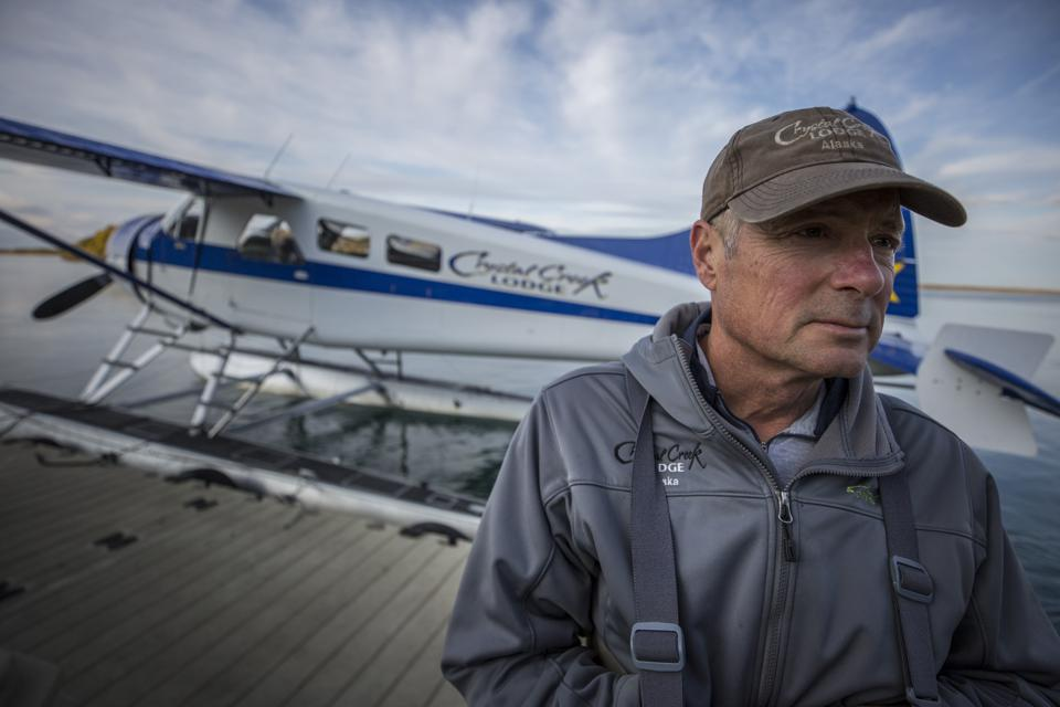 Float plane and pilot