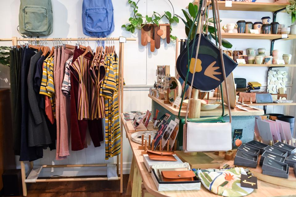Small store selling clothes, accessories and homewares