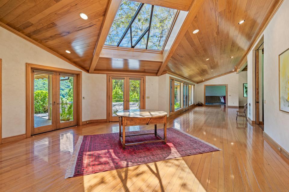 Grand foyer with skylight