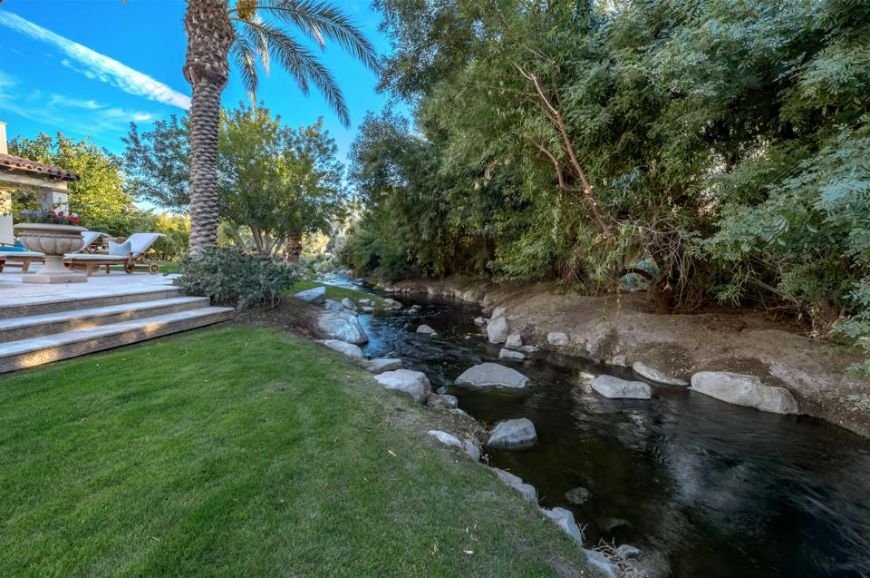 Babbling river, stream, backyard