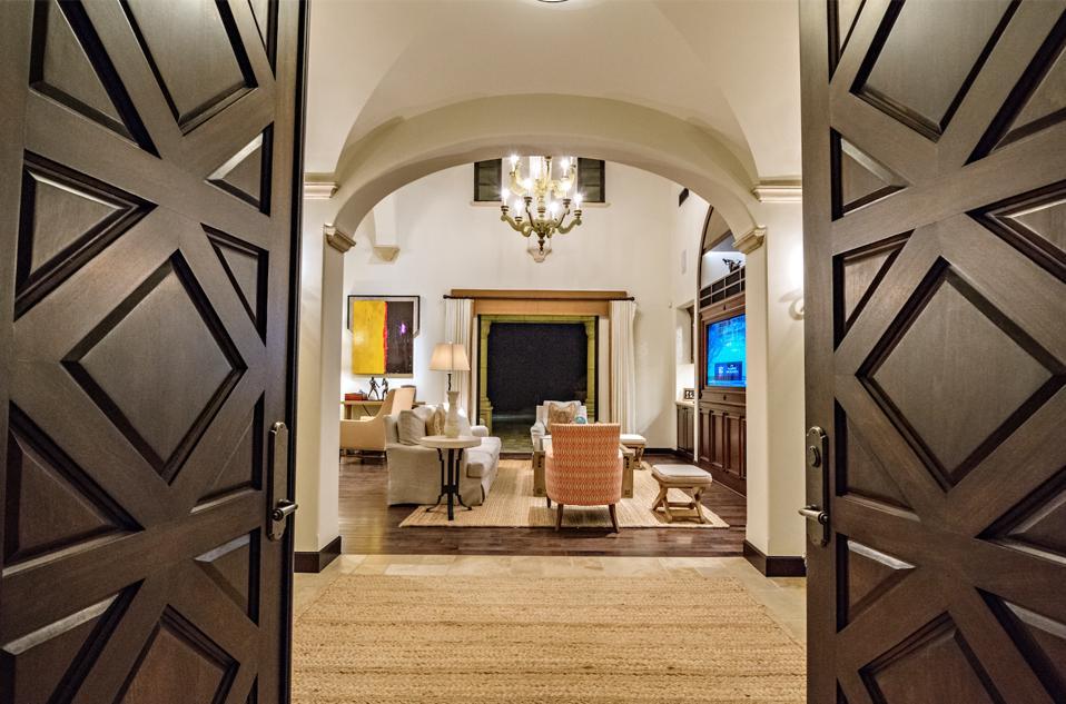 Exquisite wood front doors