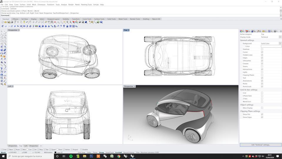Iris is a concept car designed through computational design
