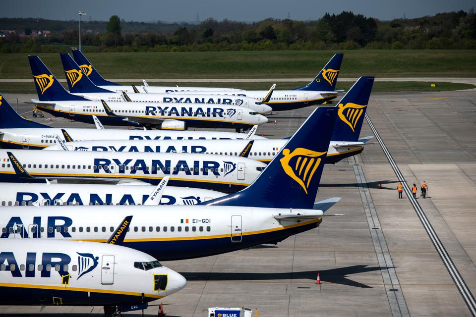 Stansted Airport Operates Limited Passenger And Freight Flights Amid Coronavirus Lockdown