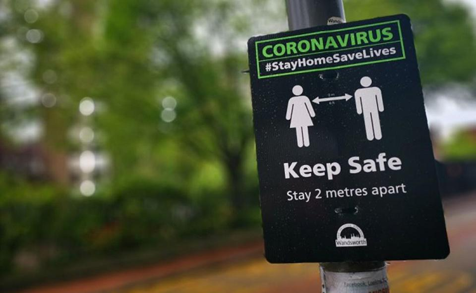 COVID-19 (Coronavirus) awareness signs have sprung up all over London.