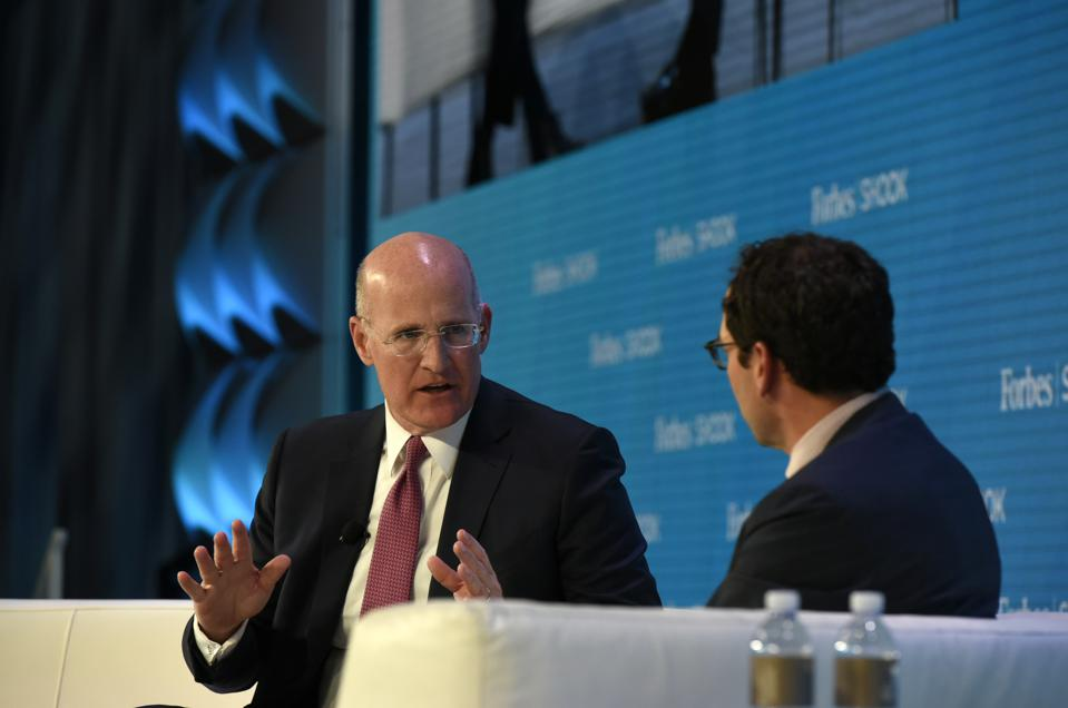 Andy Sieg, President of Merill Lynch Wealth Management, in conversation with Blackstone Group president and chief operating officer Jonathan Gray at the Forbes/SHOOK Top Advisor Summit.