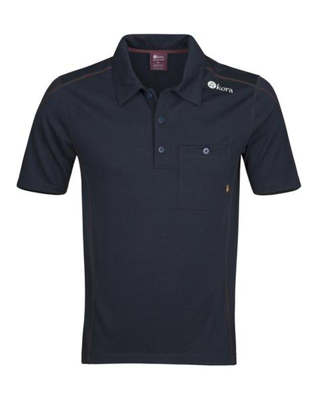 Mens Polo Shirt Large Long-Sleeve New Navy-Blue Capitol Menswear Size-L
