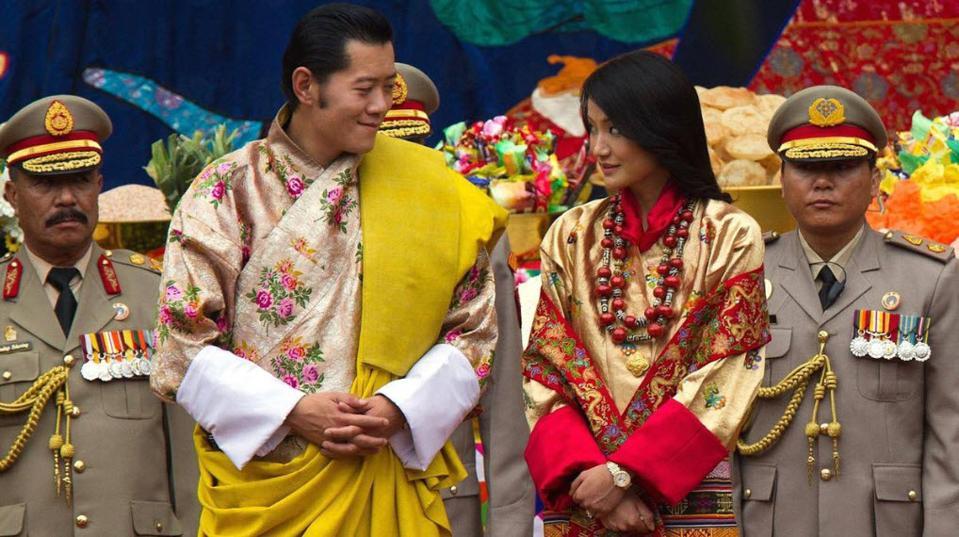 King Jigme Khesar and Queen Jetsun Pema of Bhutan