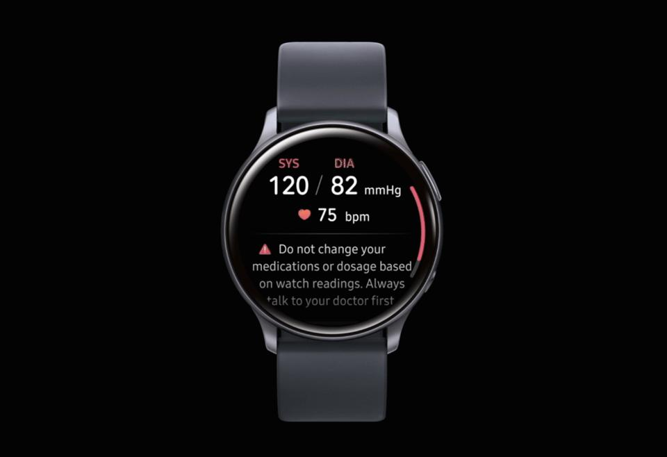 Blood pressure monitoring on the Samsung Galaxy Watch Active2