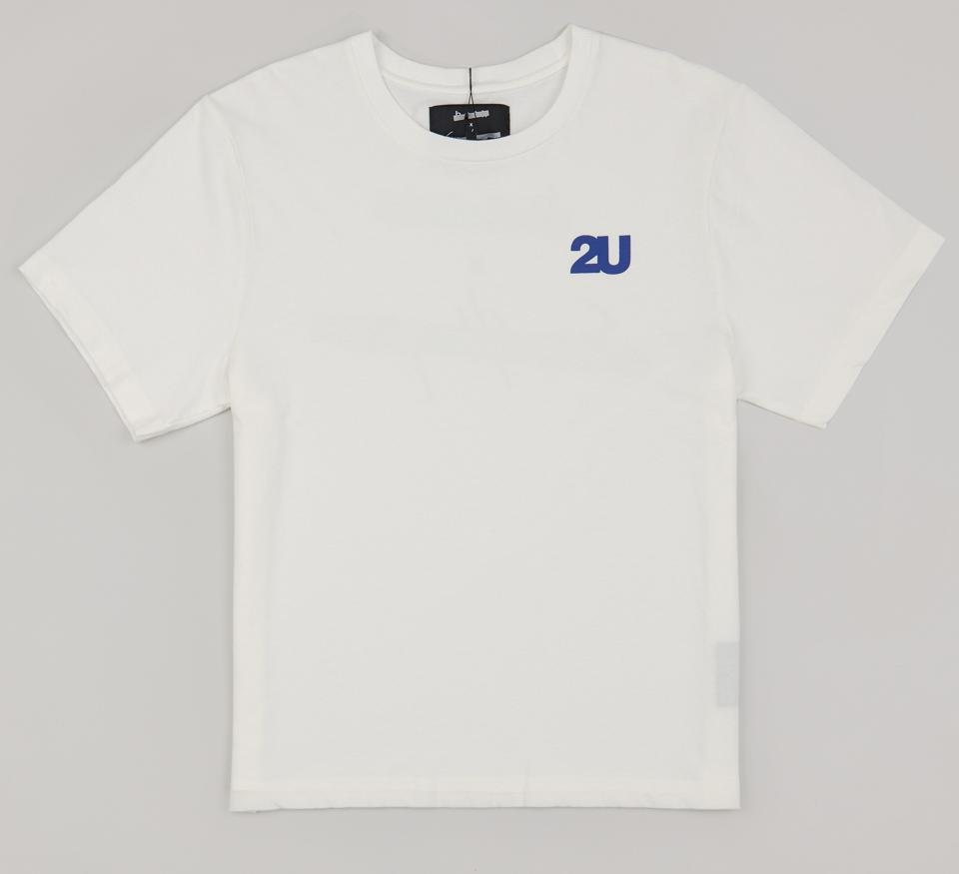 both x Second Layer - Crewneck Logo Tee - White