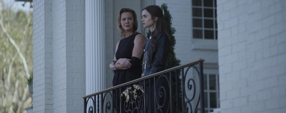 Connie Nielsen and Lily Collins in 'Inheritance.'