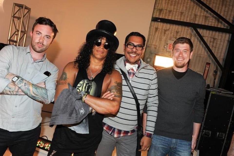 Pre-shoot with Slash and Miles Kennedy for Walmart Soundcheck