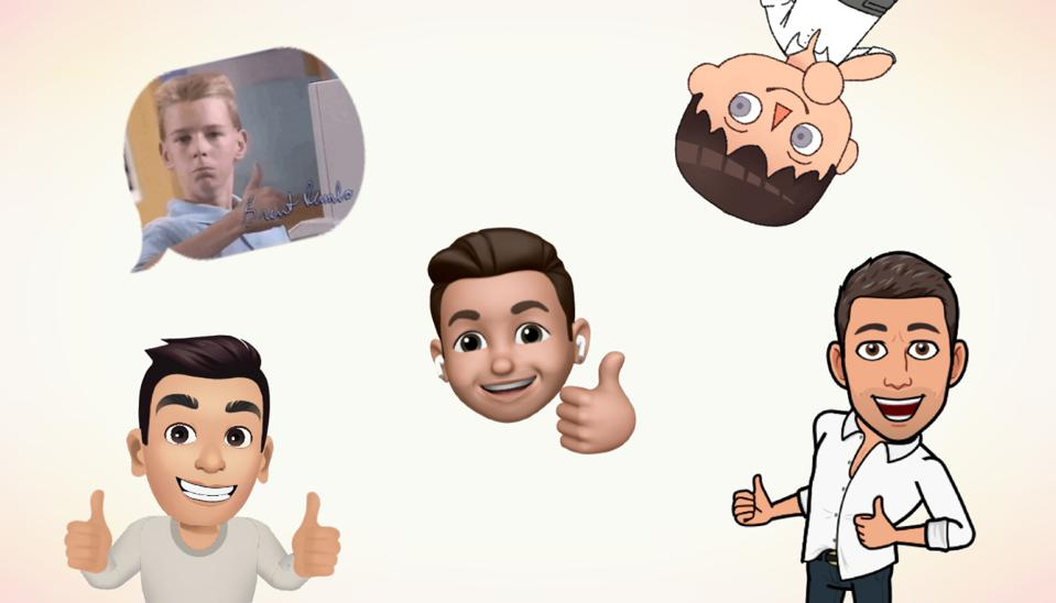 Five different avatars giving a thumbs up