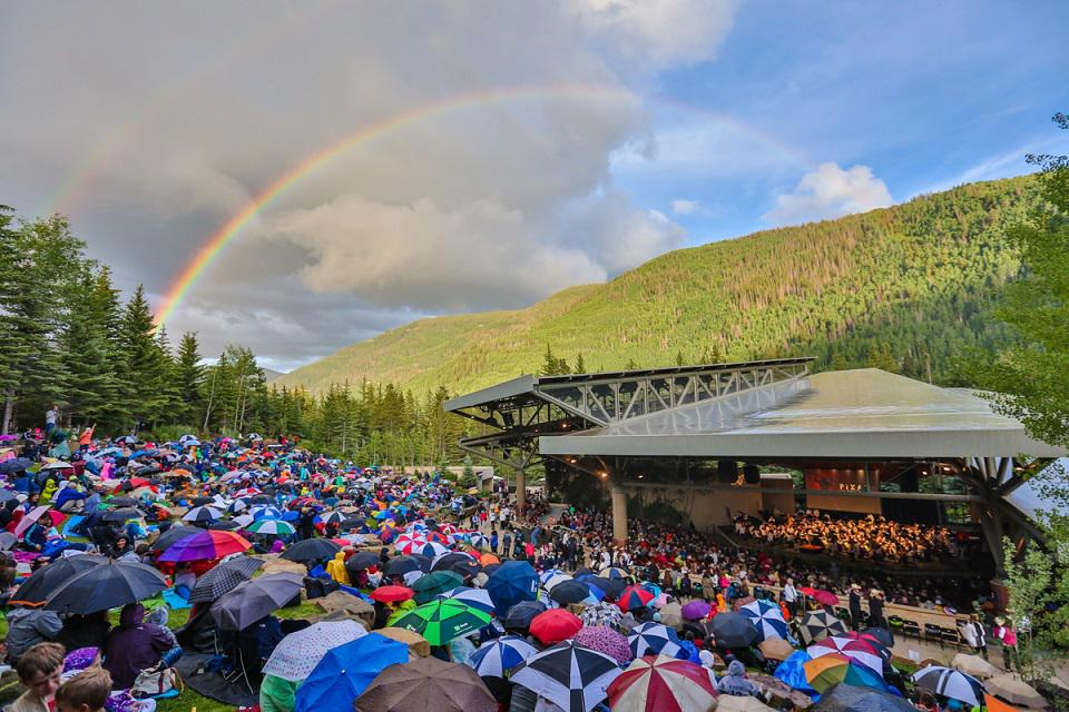 At the Bravo!Vail Music Festival where the weather can easily shift.