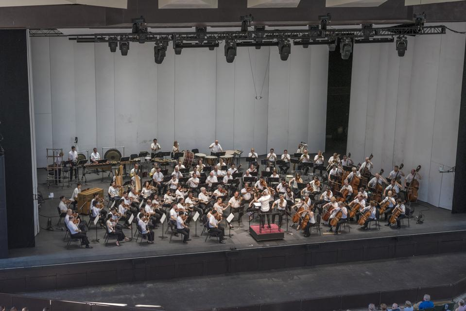 The Philadelphia Orchestra performing at the Saratoga Performing Arts Center