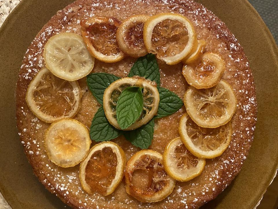 Maialino's Olive Oil Cake made by Roopal Patel. Cooking and Coping. Hungry Editor. NYC