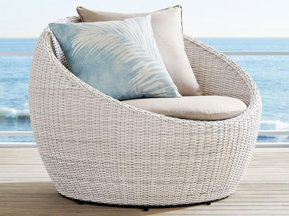 Pottery Barn outdoor swivel chair