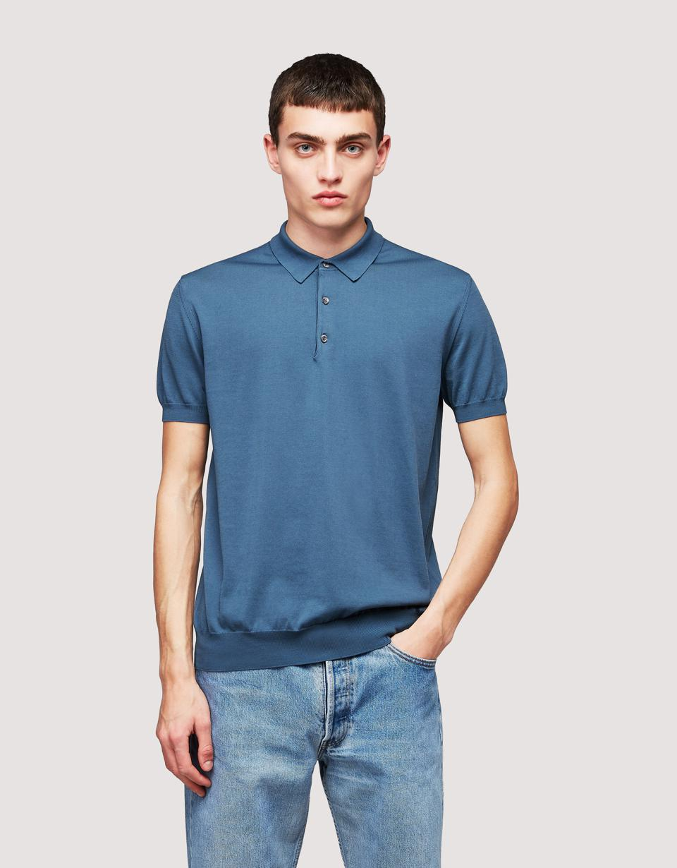 Baracuta Short Sleeve Polo Knit