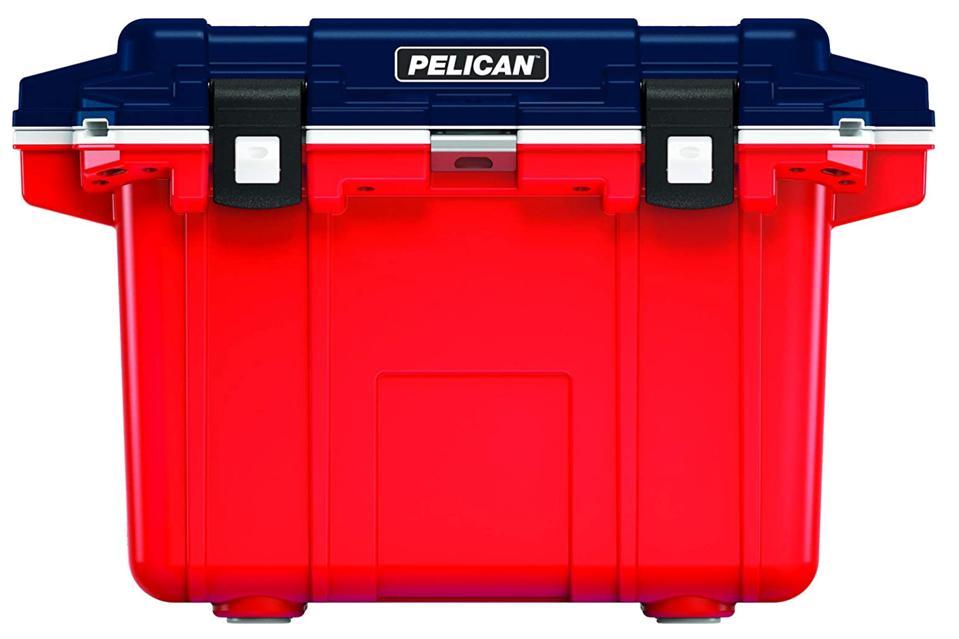 Pelican Elite 50 Quart Cooler - Americana (Red-Blue-White)