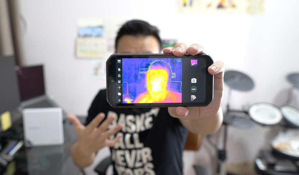 The Blackview BV9900 Pro has a thermal camera built-in.