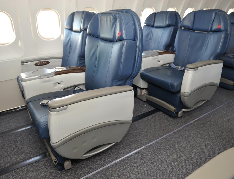 Inside Air Canada's business-class only A319