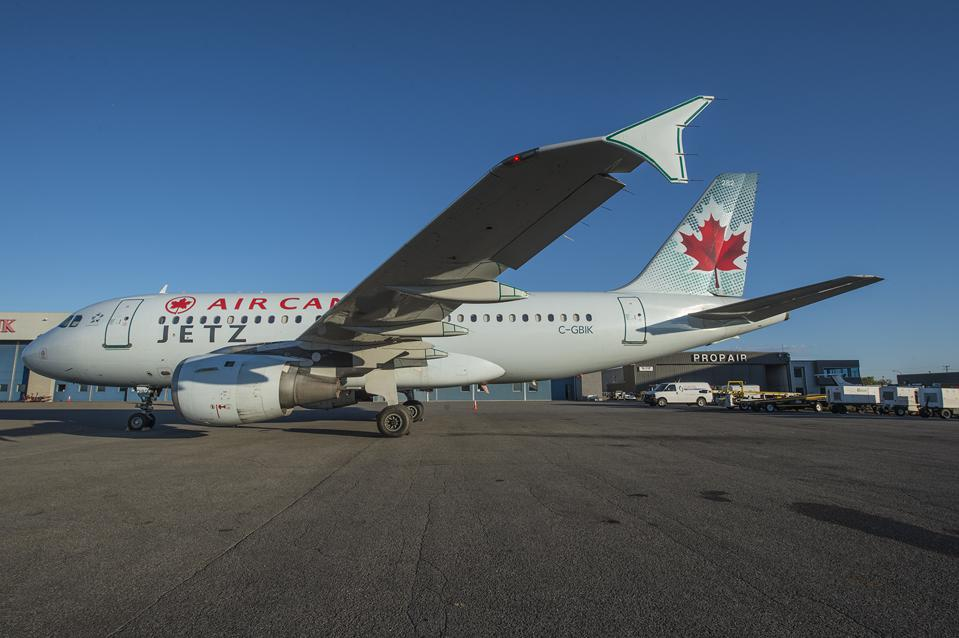 Air Canada's business-class only A319