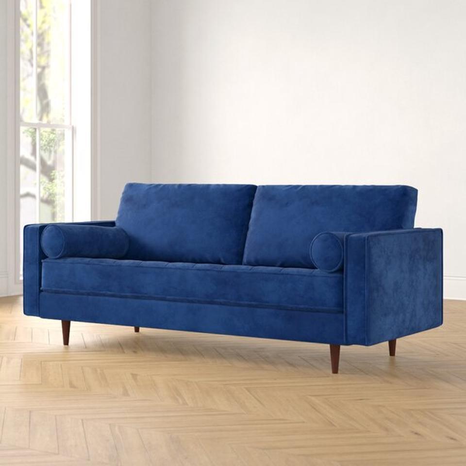 Derry Velvet 88″ Square Arm Sofa