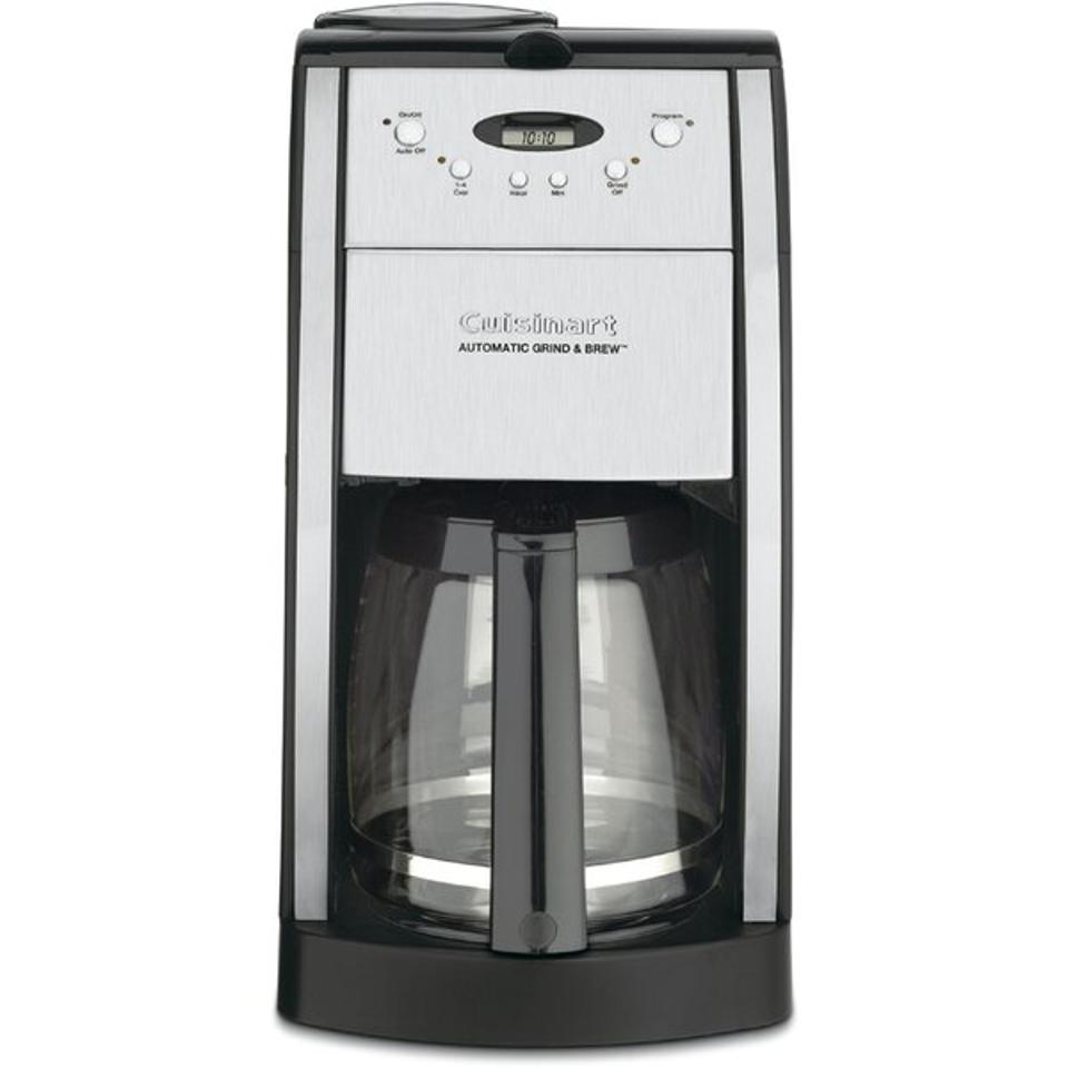 A Cuisinart grind and brew coffeemaker