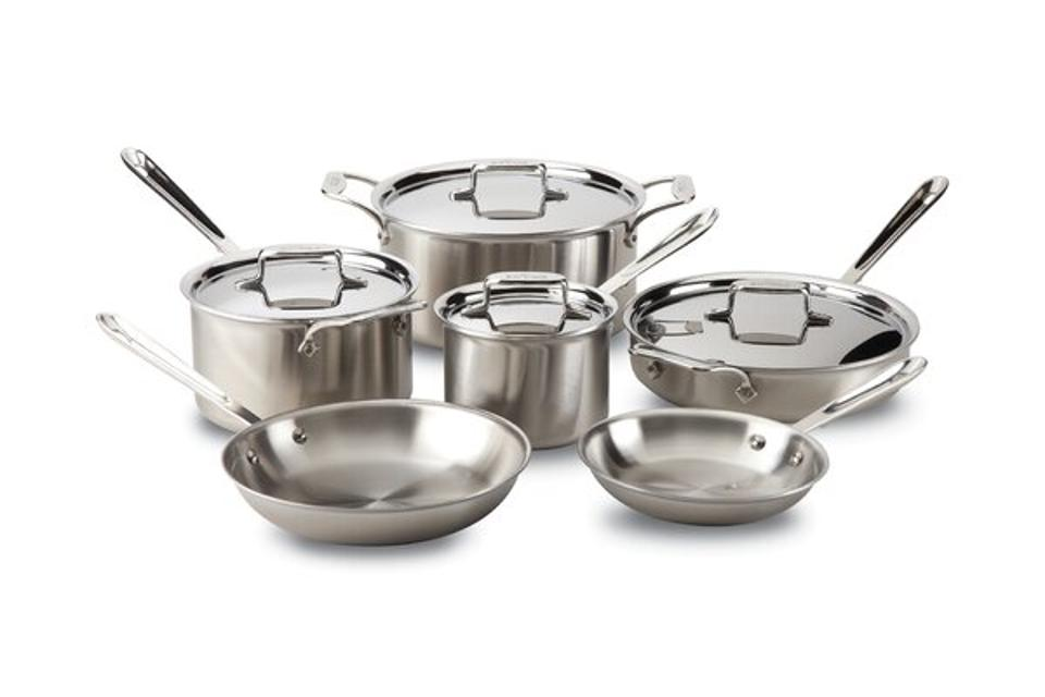 All clad stainless steel pot and pan set
