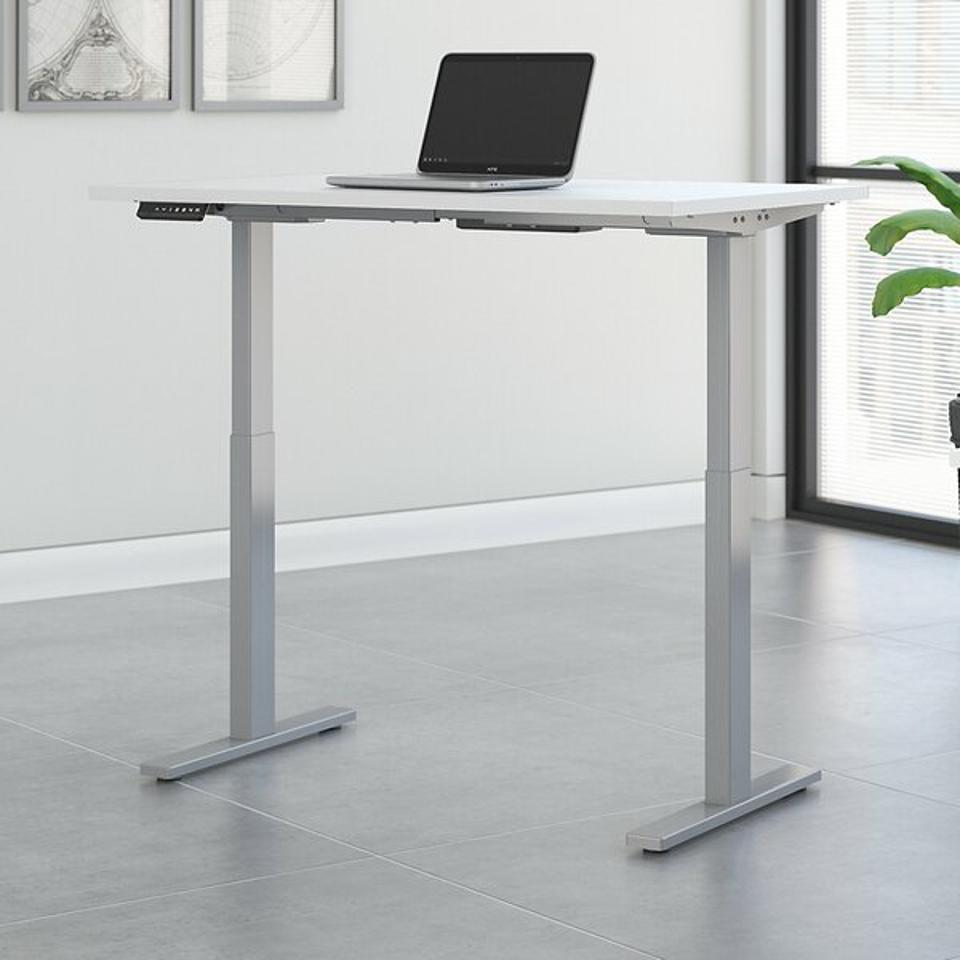 An adjustable standing desk