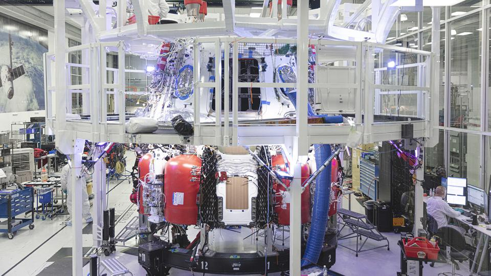 The Crew Dragon spacecraft that will be used for the Crew-1 mission for NASA's Commercial Crew Program undergoes processing inside the clean room at SpaceX headquarters in Hawthorne, California. The Crew-1 mission to the International Space Station is targeted for later in 2020 with NASA Astronauts Victor Glover, Mike Hopkins, Shannon Walker and JAXA astronaut Soichi Noguchi.