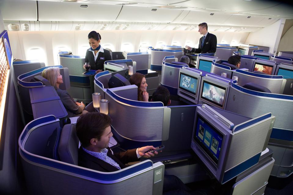 United Airlines Polaris business class on a 777