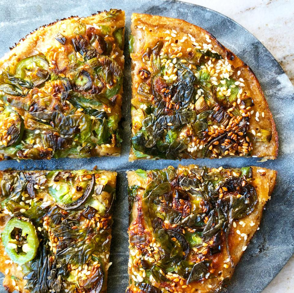 Caroline Schiff's savory pancake with basil and sesame