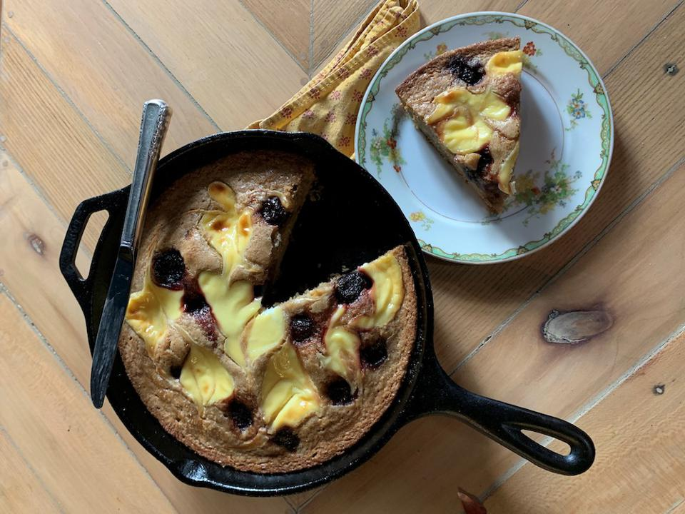 Sourdough loaves (plus creative uses for discard), custardy skillet cakes (pictured) and more.