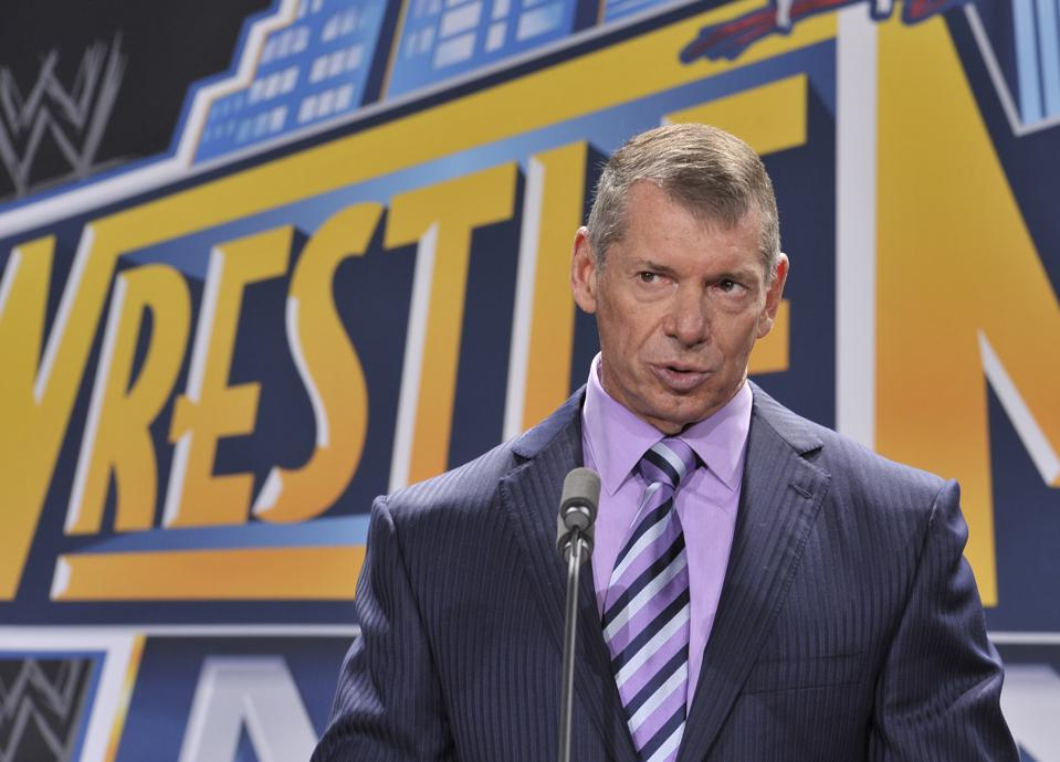 WWE Chairman Vince McMahon at a WrestleMania press conference