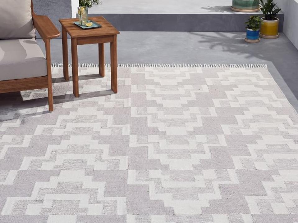 West Elm geo reflections outdoor rug