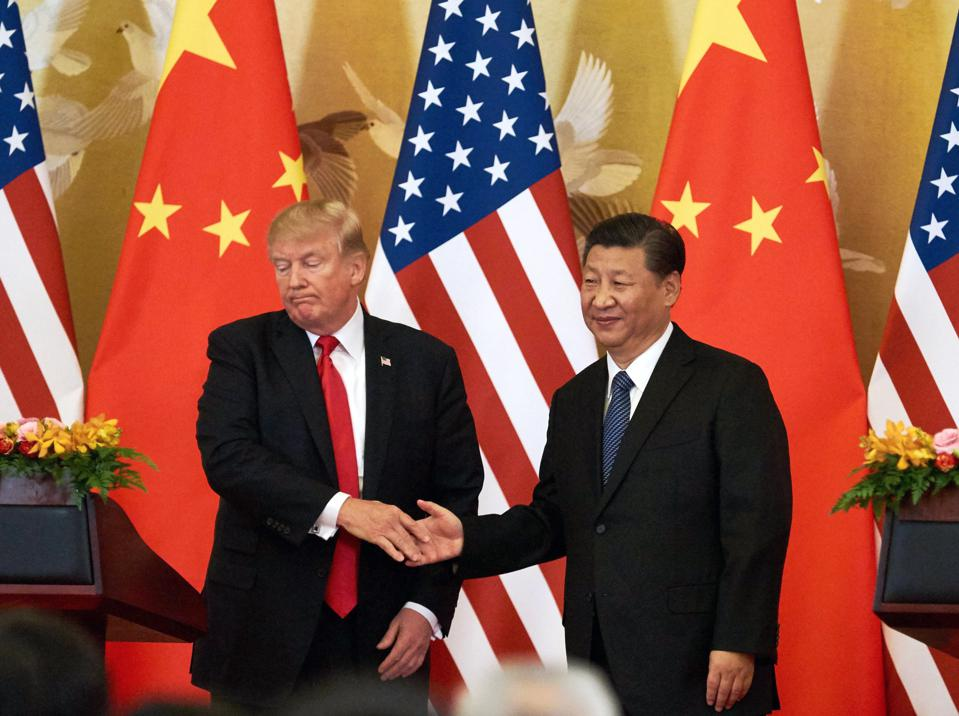 US President Donald Trump in China