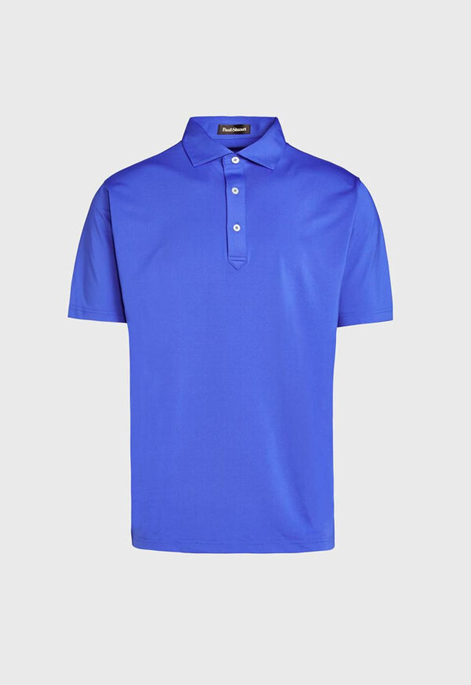 Paul Stuart's lightweight, technical polo in pima cotton and breathable performance spandex is an activewear essential for any activity that requires the wearer to look good while staying cool.