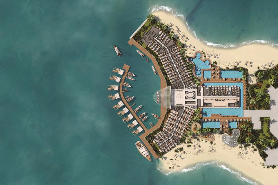 Aerial of Portofino Island