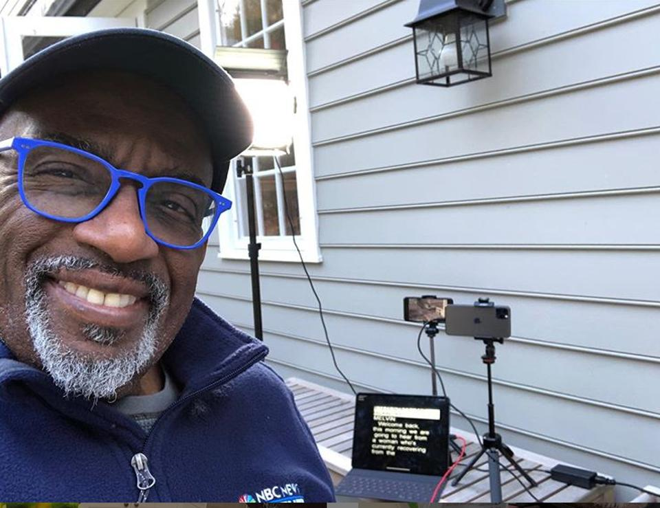 NBC Today Show's Al Roker and his home live-streaming set up with Apple iPhones and MacBook Pro