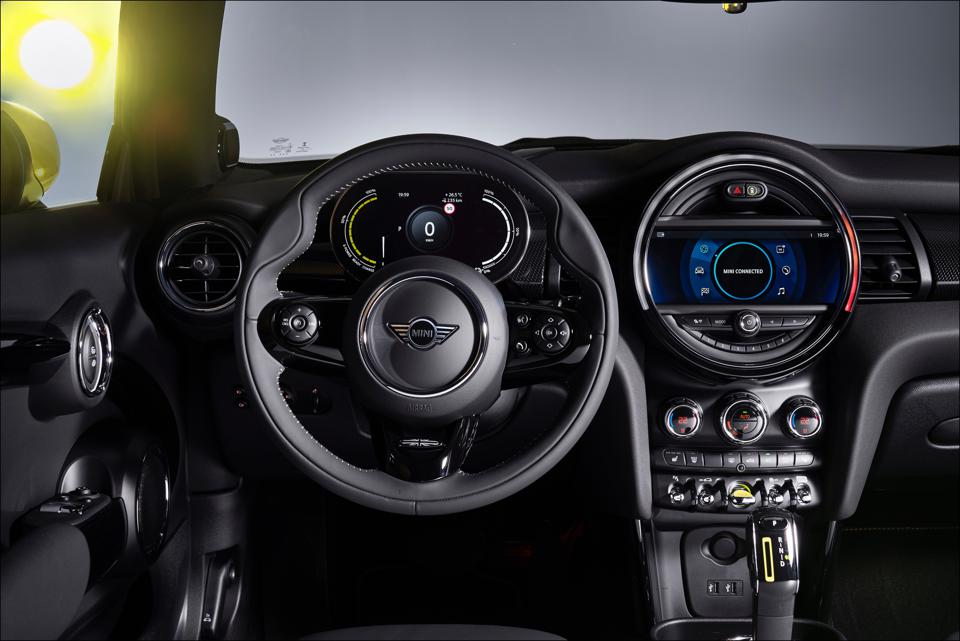 Steering wheel is chunky and a delight to work.