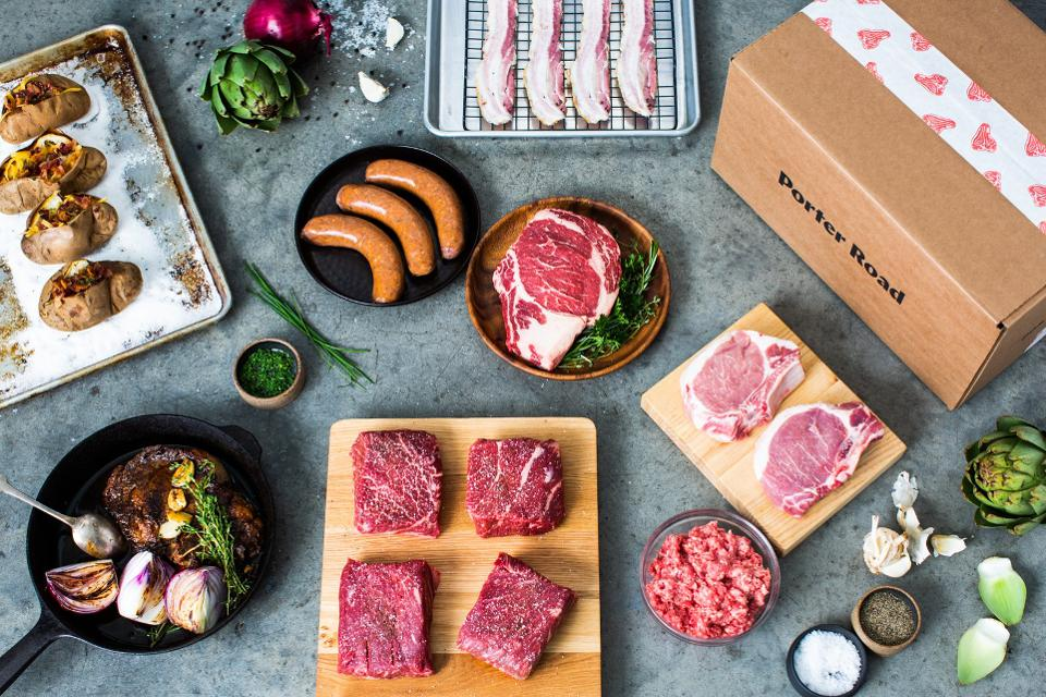 Selection of meats from Porter Road