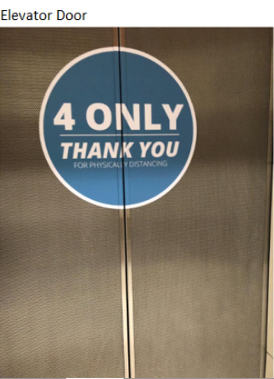 4 per elevator