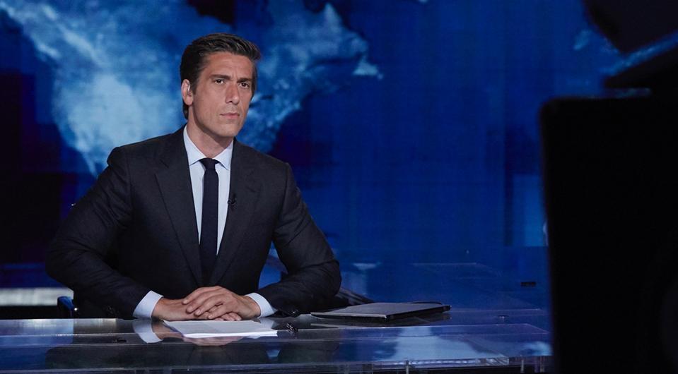 David Muir at ABC News in New York