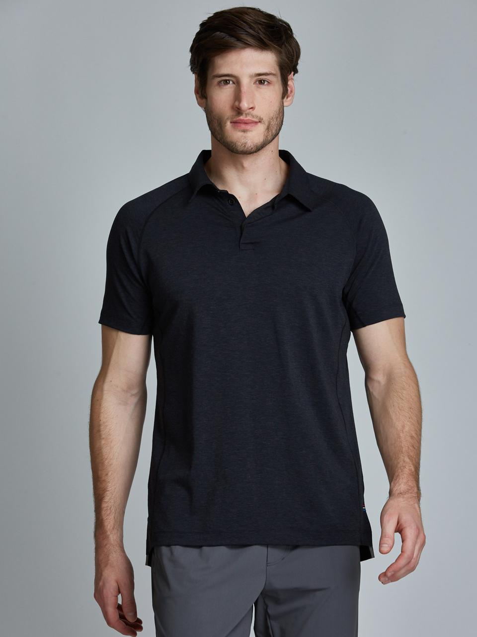 Level Tech Polo in Black