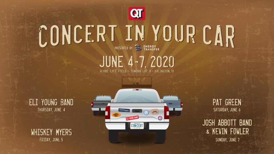Texas Rangers Concert in the Car