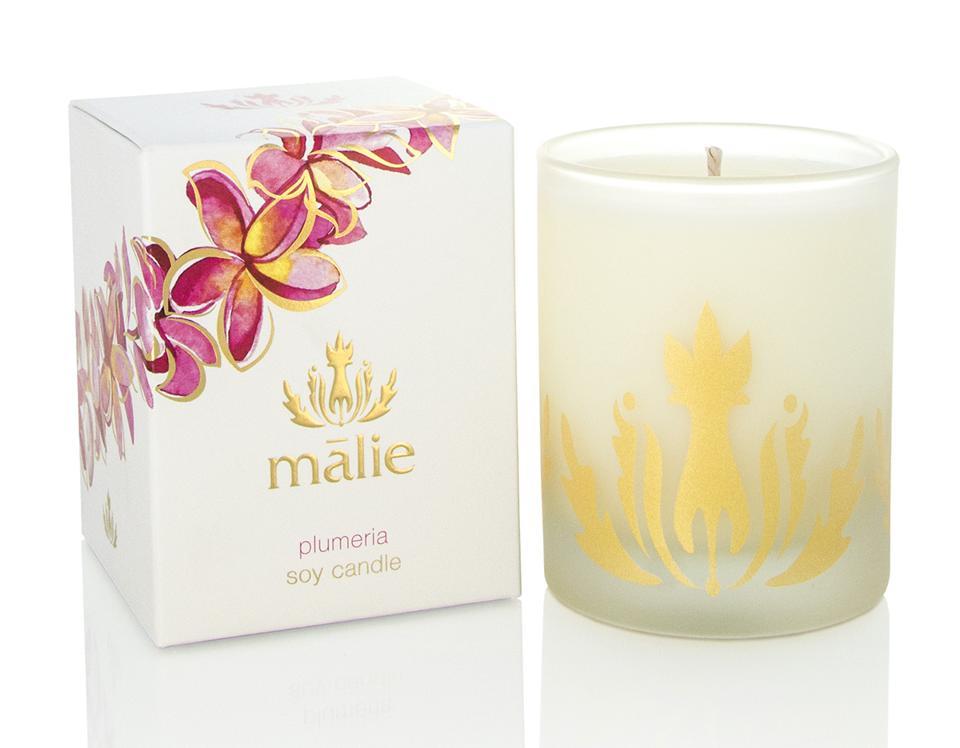 Malie Organics Soy Candle Hawaii Kauai Plumeria