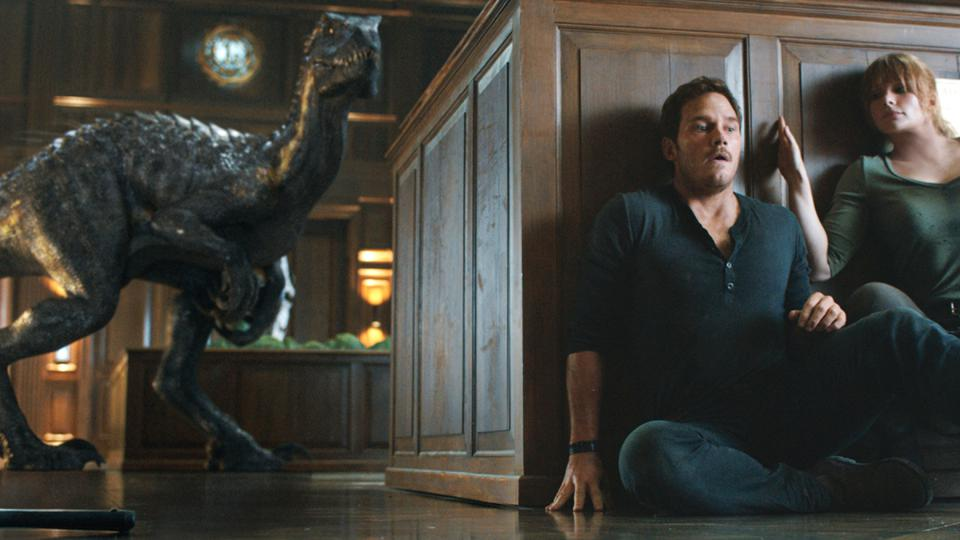 Chris Pratt and Bryce Dallas Howard in 'Jurassic World: Fallen Kingdom'