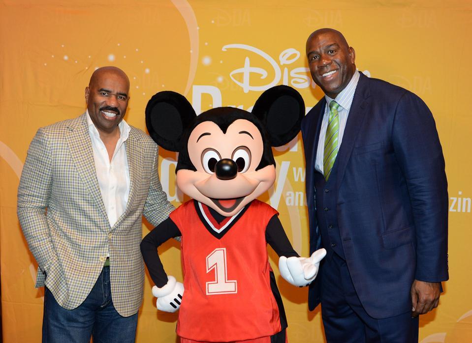 Magic Johnson Visits Disney Dreamers Academy event At Walt Disney World Resort