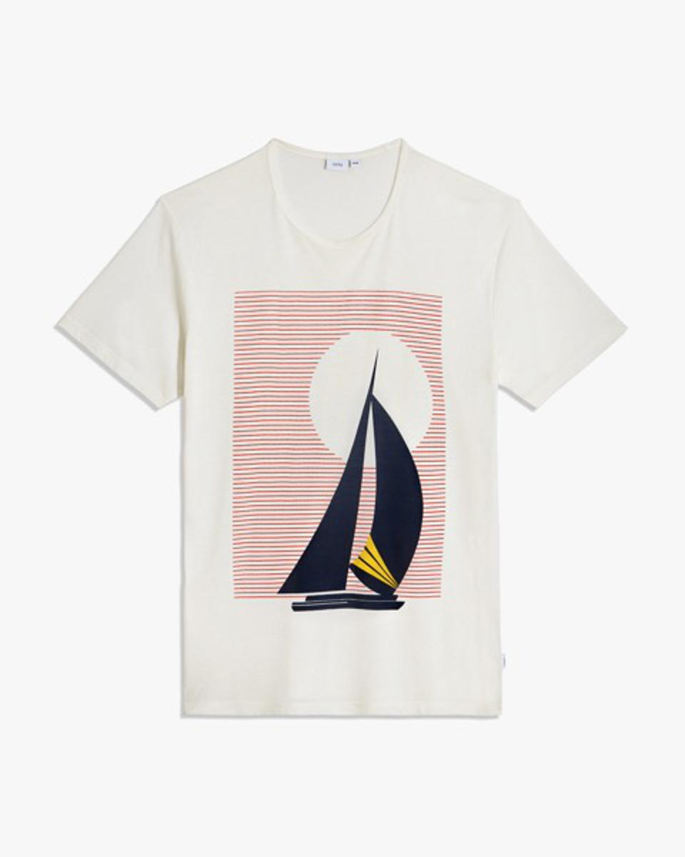 The Johnny T-Shirt features screen-printed graphics