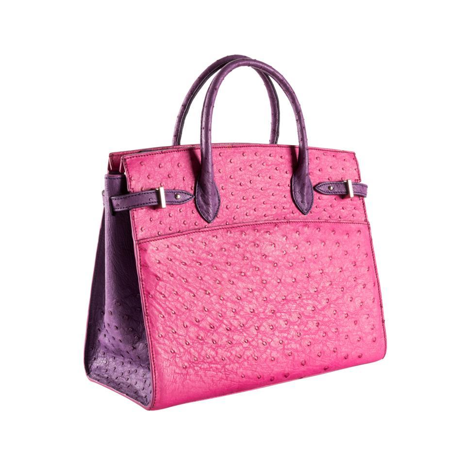 Ostrich leather purse by Mirta